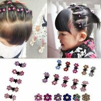 Baby Mini Crystal Girl Claw Hair Clip Hair Pin Flower 12 Pcs