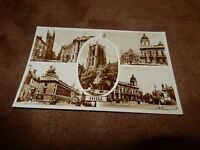 Yorkshire real photographic postcard - Hull multiview - 1