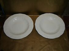 "wedgwood strawberry and vine rimmed soup bowls x2 9"" diameter"