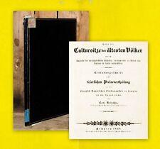1838 Festschrift mit floral geprägtem Glanzpapier Kempten Allgäu Reischle