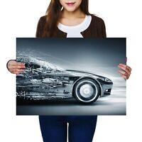 A2 - Futuristic Concept Car Driver Vehicle Poster 59.4X42cm280gsm #8666