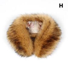 Winter Faux Fur Scarf Collar Shaggy Women Warm Wrap Fluffy Short Scarves Luxury