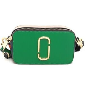 Auth MARC JACOBS Shot The Snapshot Patent Leather Shoulder Bag