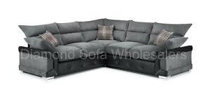 Sofa Logan - Corner - 3 Seater - 2 Seater - Armchair - Swivel chair - Black/grey