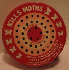 Old Decorative Red Mabex Moth Killer Hanging Advertising Tin Philadelphia PA