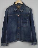 RRP €169 NUDIE JEANS RONNY WORN AUTHENTIC Mens LARGE Denim Blazer Jacket 1987*mm