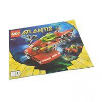 1x Lego Bauanleitung Heft 1 Atlantis Neptune U-boot 8075