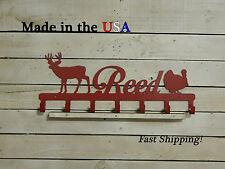 Hunter's Metal Rack, Deer,Turkey, Hunting Decor, Coat Rack, Wildlife Art, CR1088