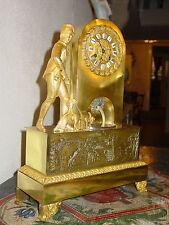 Seltene Empire Uhr um 1820 mit Soldat!