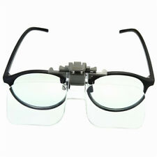 HD Lens Precise Clip On Clear Folding Magnifying Glasses Hands Free Reading Eyeg
