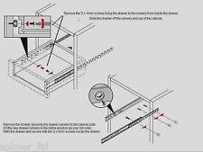 5 Pairs Drawer runner Pr 280mm draw depth for 17mm - 10104