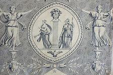 Fabric Blue Toile de Jouy Pallas et Venus Jean Baptiste Huet design Antique