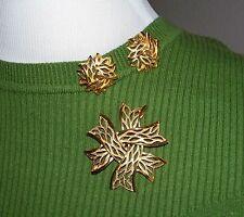 Vintage TRIFARI Goldtone Pin & Earring Set