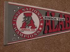 1992 Alabama Crimson Tide National Championship NCAA Football Full Size Pennant
