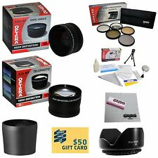 10 Piece Pro Lens kit for Panasonic Lumix Digital DMC-FZ38 DMC-FZ18