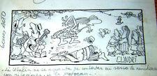 CUNDRI ORIGINAL ART SKETCH SIGNED RICO TIPO ARGENTINA 1970's