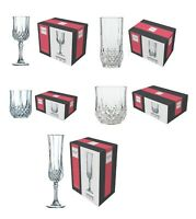 Cristal Drinking Glasses D'Arques Longchamp Set of 6 Whisky Wine Champagne