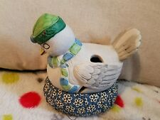 Vintage Sewing Kit Ceramic Pigeon On Nest Jason Taiwan