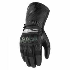 Icon Patrol CE Leather/Textile Waterproof Motorcycle Street Riding Gloves size M