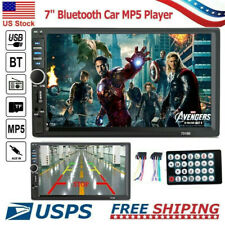 Bluetooth FM Player Stereo Radio Car 7'' HD MP5 Touch Screen w/Remote Controller