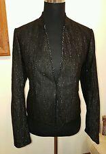 NEW Designer Maje (France) Black and Gold Fleck Blazer / Jacket, UK size 12 / M