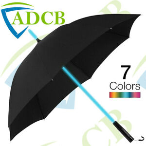 LED Multi Colour Changing Umbrella with LED Torch in Handle GIFT UNISEX RAIN UK