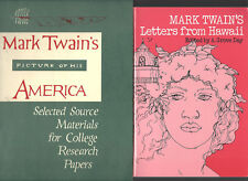 lot of 3 MARK TWAIN'S PICTURE OF HIS AMERICA, LETTERS FROM HAWAII, BIBLIOGRAPHY