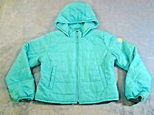Gap Girls Aqua Puffer Jacket Coat Hooded Packable Size XL 12 Plus