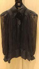 CHANEL Nero Camicia filati Made in France