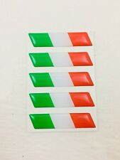 Italy Flag Emblem Sticker Set of 5 stickers emblems Italian decals - NEW - #25A