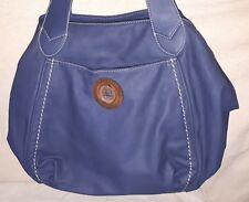 Edel DAVID JONES Damen Tasche Shopper Hand Leder Blau Design Bag Ladies Frau NEU