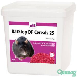 Rattenköder RatStop DF Cereals 3 kg Rattengift Mäusegift Mäuseköder < 0,0029%