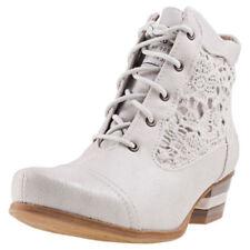 Scarpe da donna stivaletti bianchi tessili