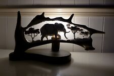Lamp made from fallow deer antler elephant  design, hand made hand crafted art