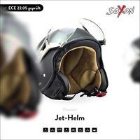 SOXON SP-325 Night Jet-Helm Motorrad-Helm Vespa Roller-Helm Chopper XS S M L XL