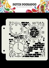 Flex-Schablone Stencil Grunge Clock Uhr Mixed Media Dutch Doobadoo 470.715.154