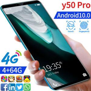 Y50 Pro 4+64GB Mobile Phone Face Recognition Fingerprint Recognition Smartphone