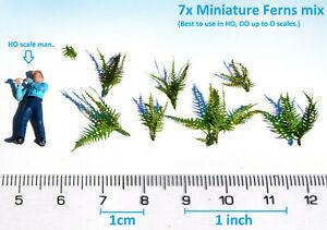 Miniature Ferns bracken plants mix HO O scale model foliage diorama 1:87 railway