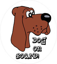 static cling, Dog On Board, sticker fun pet decal dog No7 150x135mm