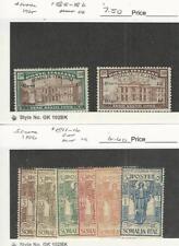 Somalia - Italy, Postage Stamp, #B5-B6t Hinged, B11-B16 Mint LH, 1925-26, JFZ