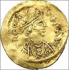 BYZANTINE. Phocas. AV GOLD Tremissis, Cross, 16mm, 1.43g