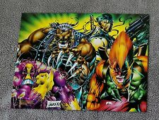 Maxx Pitt Deathblow Bloodwolf 1992 Liefeld Lee Keith Keown PROMO Pinup Poster VF