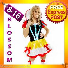 8389 Ladies Snow White Princess Disney Fancy Dress Up Halloween Costume