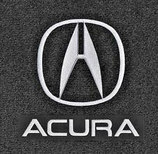 LLOYD Classic Loop™ Ebony FRONT FLOOR MATS with Licensed Logos 2013-17 Acura ILX