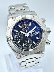 Breitling Avenger II A13381 43mm Chronograph Steel Automatic Black Dial Full Set