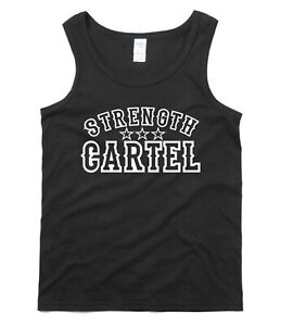 STRENGTH CARTEL Gym Vest T-shirt Weight Lifting Bodybuilding Training Tank Top