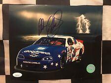 Dale Earnhardt Autographed 1996 Monte Carlo 8x10 With JSA Certification