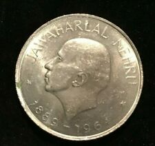 1964 India 1 Rupee  Nickel  Coin