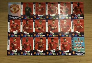PANINI ADRENALYN XL PREMIER LEAGUE 2020/21 TEAM SET OF ALL 18 MANCHESTER UNITED