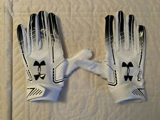 Under Armour UA F6 Football Gloves Adult Large White/Black New